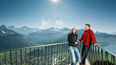 Skywalk-platform op de Harder, de huisberg van Interlaken